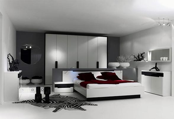 Dekorasi kamar tidur white