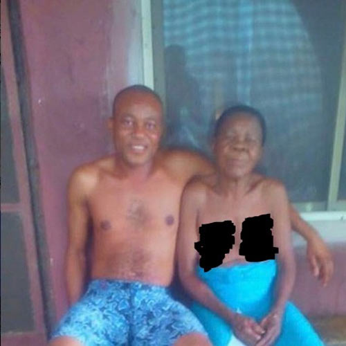 Man shares photo of his unclad mother to mark her birthday