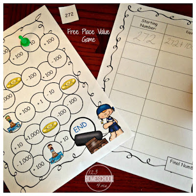 FREE Pirate Place Value Game