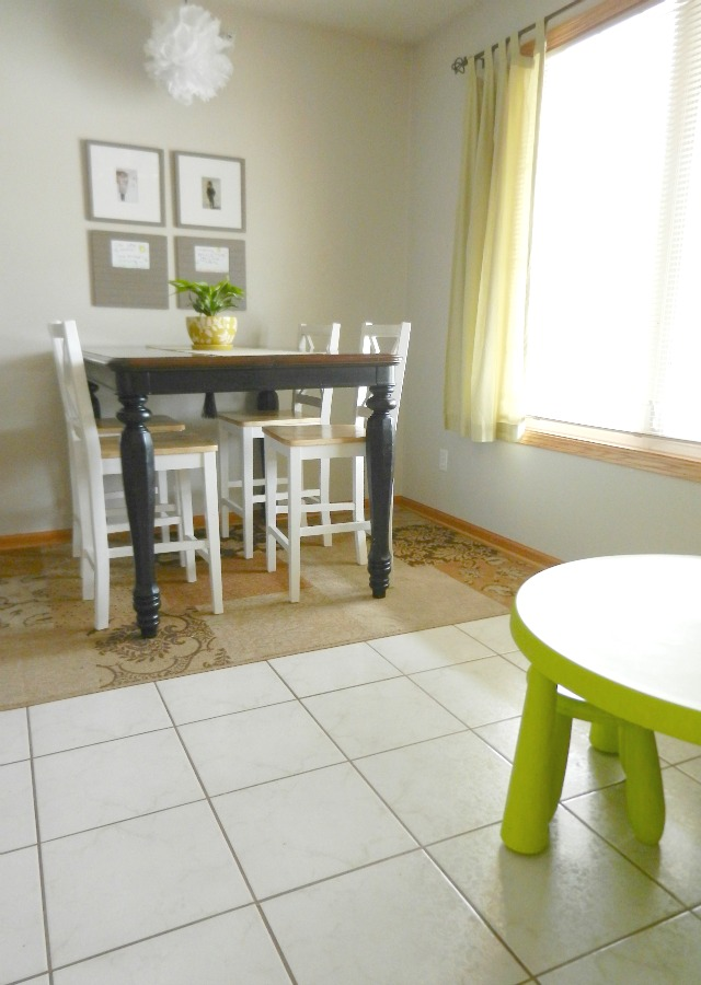 small space family dining room