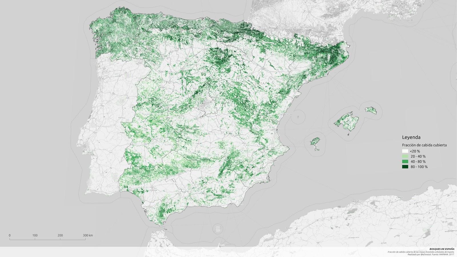 Educacion Forestal Mapa Forestal Espana 2017