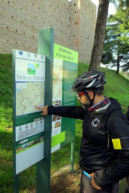 itinerario in bici terre del custoza
