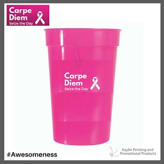 Promotional Pink Plastic Tumblers
