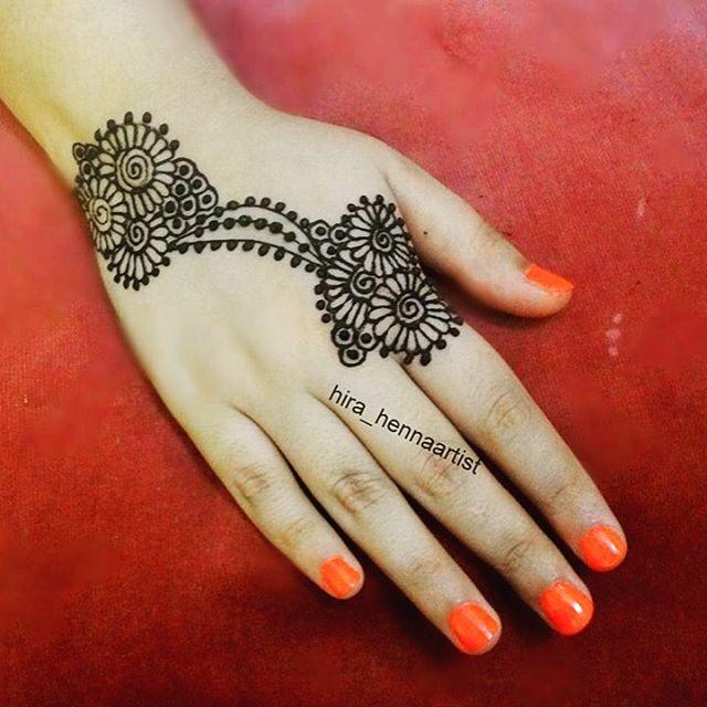 Mehndi Designs Back Side Simple : New simple mehndi henna designs for hands buzzpk
