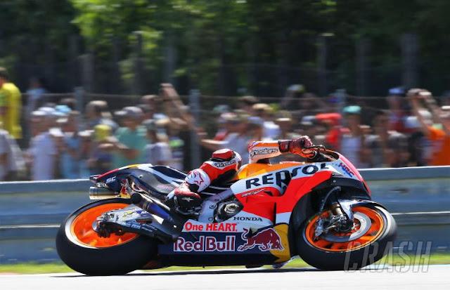 Marquez Pole Position MotoGP Brno Ceko 2017, Rossi Kedua