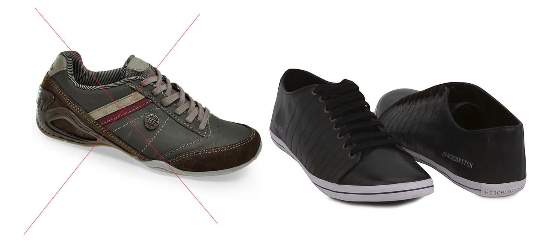 597fac825 Exemplo de sapatênis – o da esquerda tem muita informação