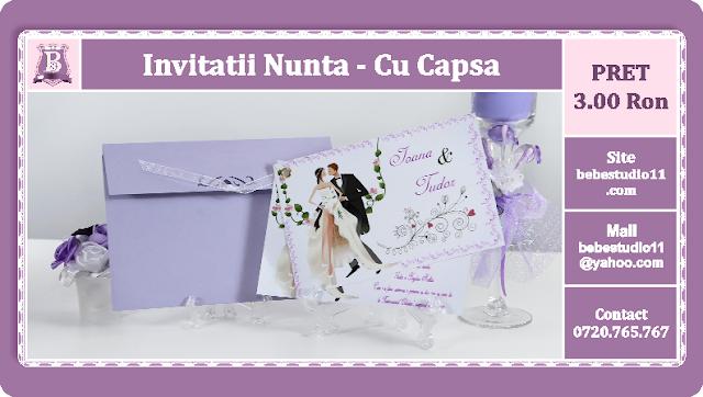 Invitatii Nunta Cu Capsa