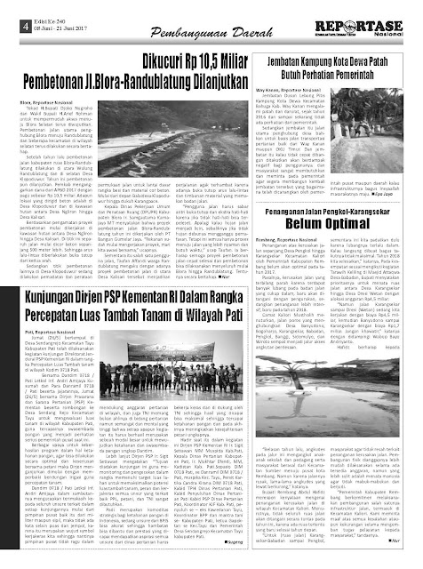 Reportase Nasional Edisi 240 Tanggal 08 Juni - 21 Juni 2017