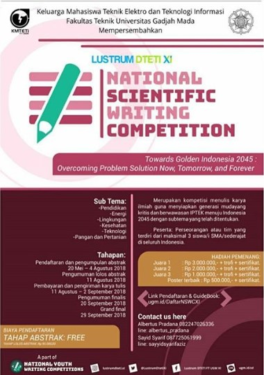 National Scientific Writing Competition 2018 SMA Sederajat di UGM