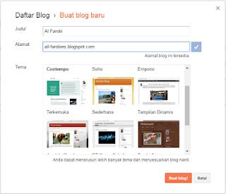 cara membuat blog di blogger