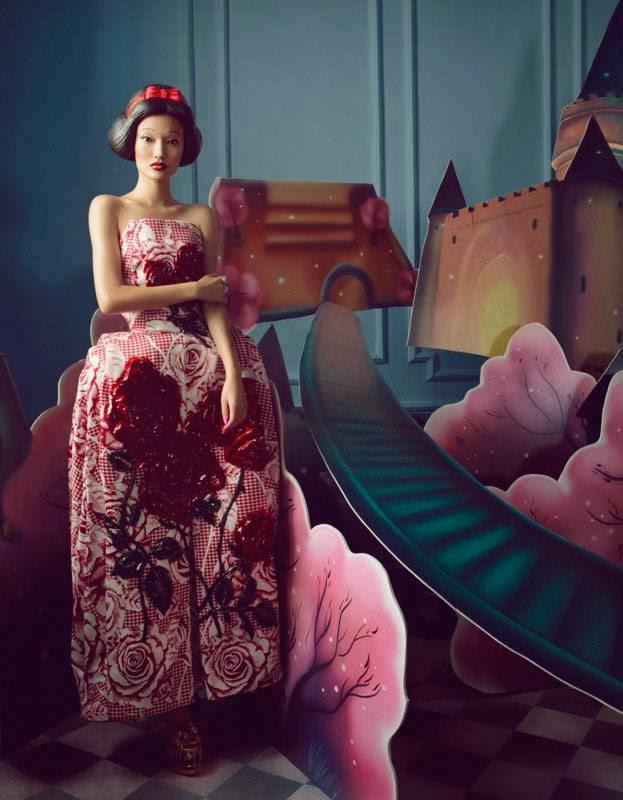 Fashion Editorial | The Dream - Yan Xu by Shxpir for Harper's Bazaar China December 2013
