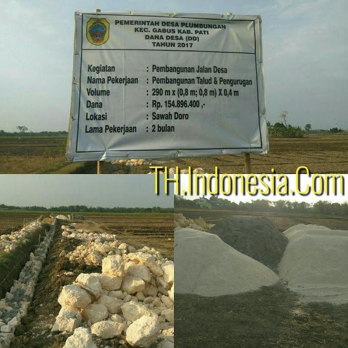 Pembangunan Talut Di Desa Plumbungan Gabus Yang Bersumber Dari Dana Desa Terkesan Asal-asalan