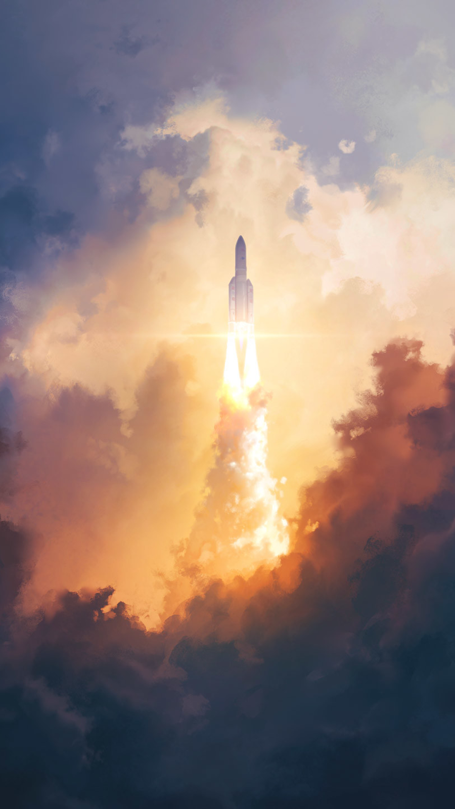 space hd illustration background iphone wallpaper free download