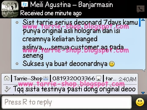 Testimoni Paket Cream Deoonard Red BIG