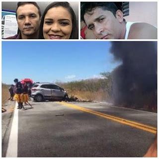 PRF apura causas do acidente que matou gerente da CEF de Patos e mais três pessoas