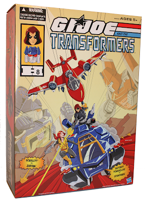 San Diego Comic-Con 2015 Exclusive G.I. Joe x Transformers Soundwave H.I.S.S. Tank %2526 Powerglide Rattler Box Set with Scarlett & Zartan