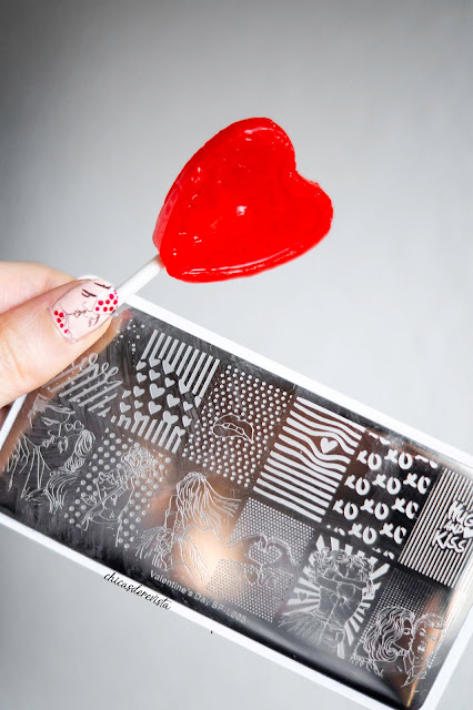 nail art stamping st valentin