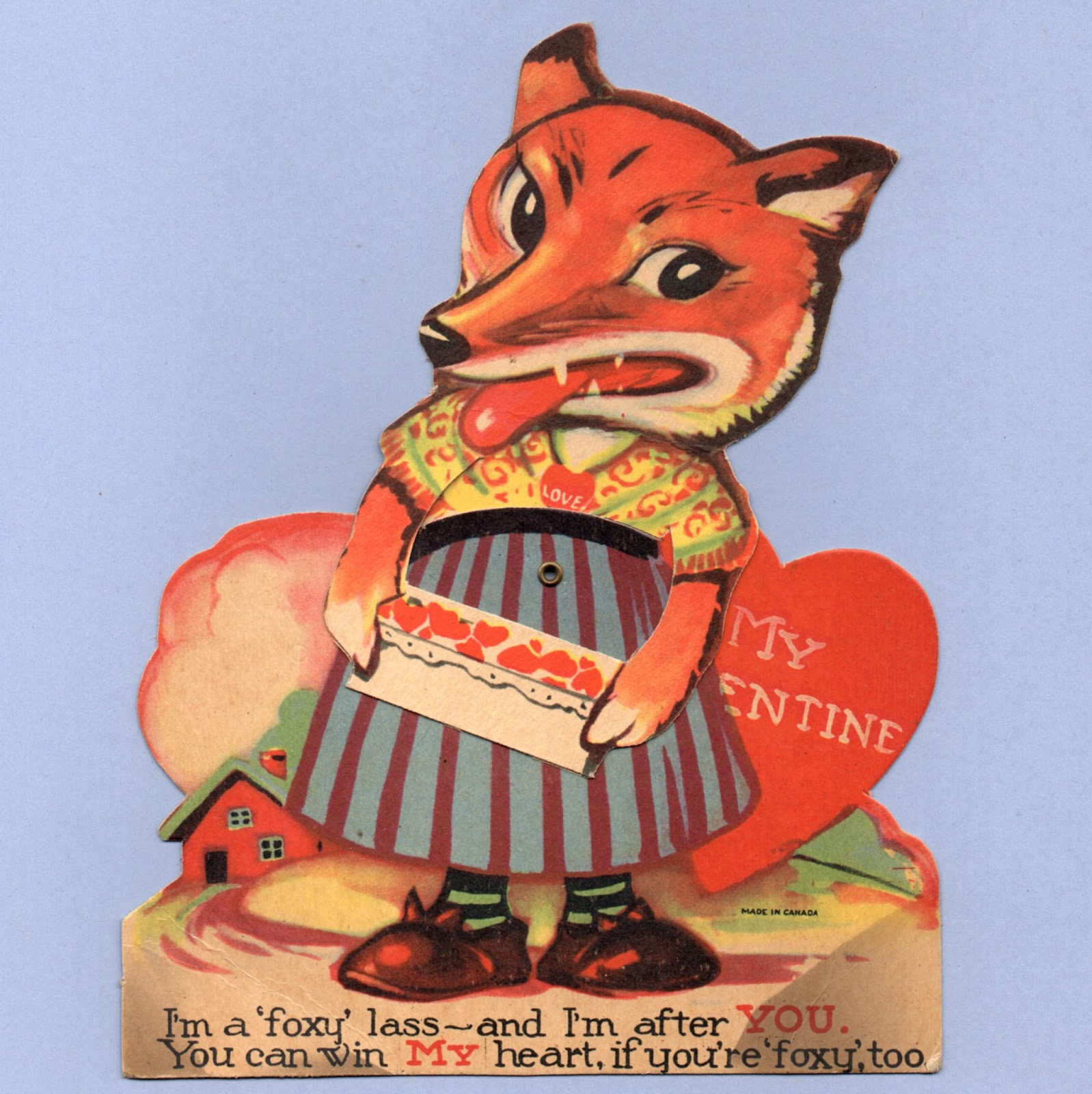 Vintage Valentine Museum: Fox - You Know You are a Cute ...