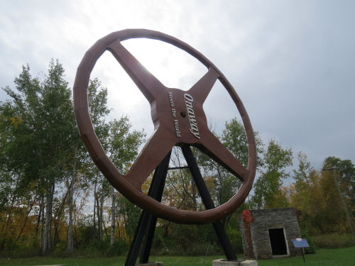 Onaway, Michigan steering wheel sculpture