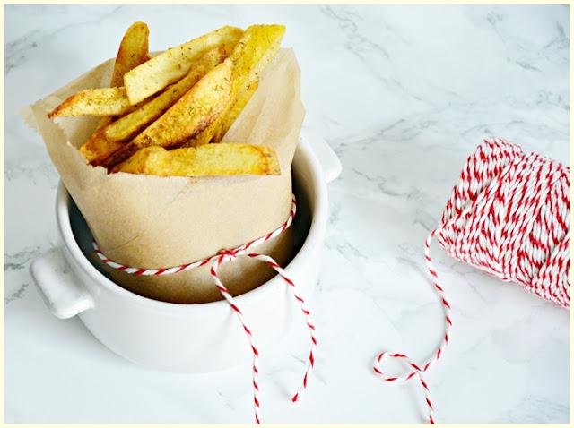 Domowe frytki z czerwonych ziemniaków