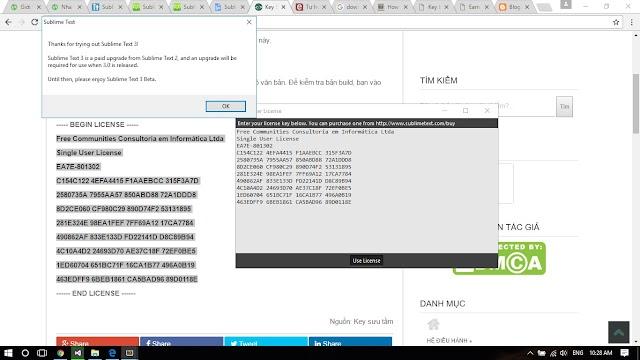 Tải phần mềm Sublime text dùng lập trình [Full License Key]