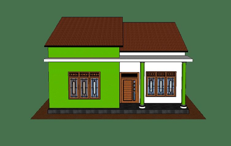 Tampak depan - rumah 1 lantai gaya klasik dan modern