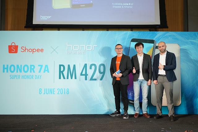 Super honor Day Menampilkan honor 7A dan honor 10 Edisi Phantom Green - Shopee Malaysia