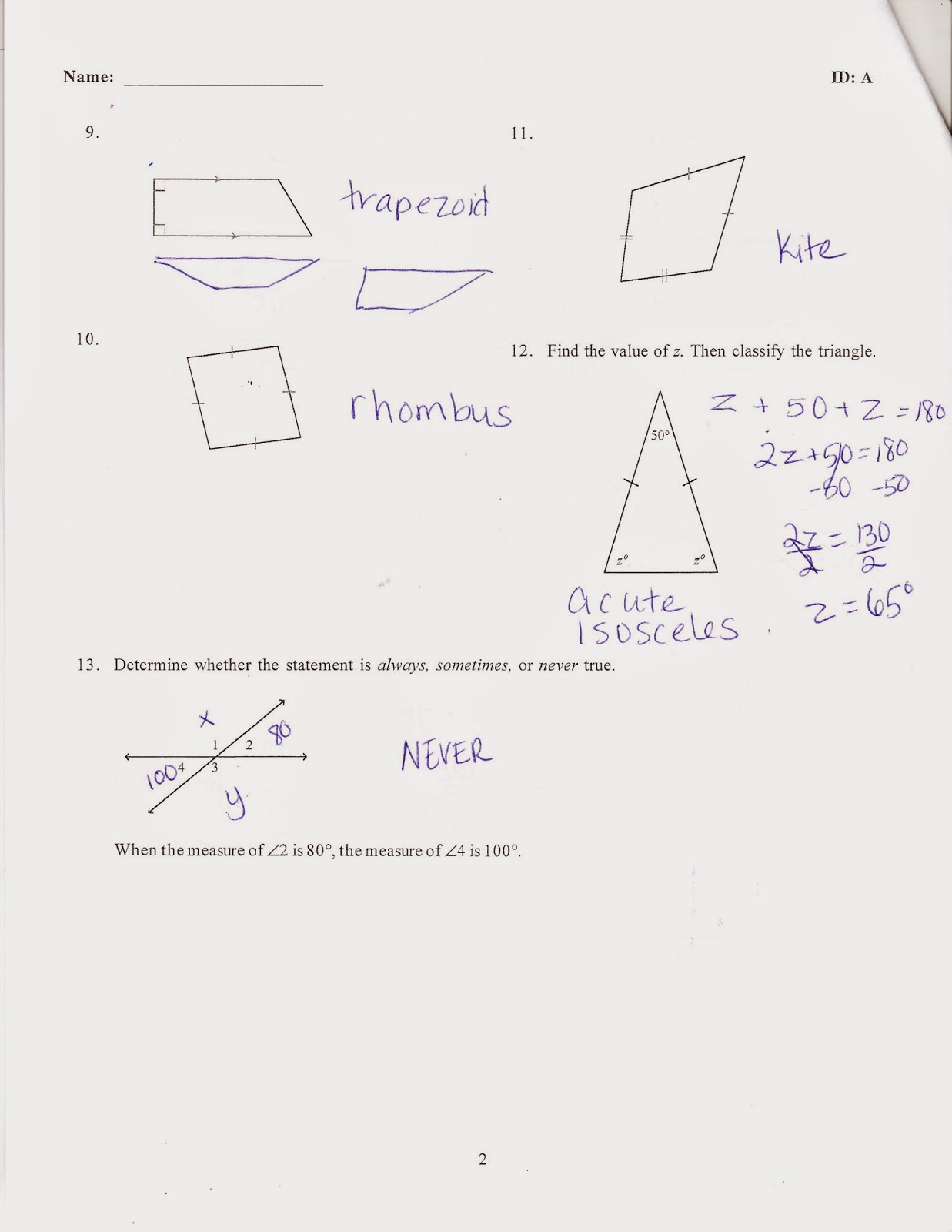 Ms. Jean's Classroom Blog: Math 7 Chapter 7 Practice Test