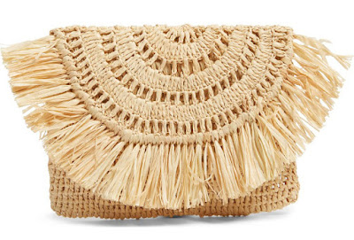 Mar Y Sol Straw Clutch