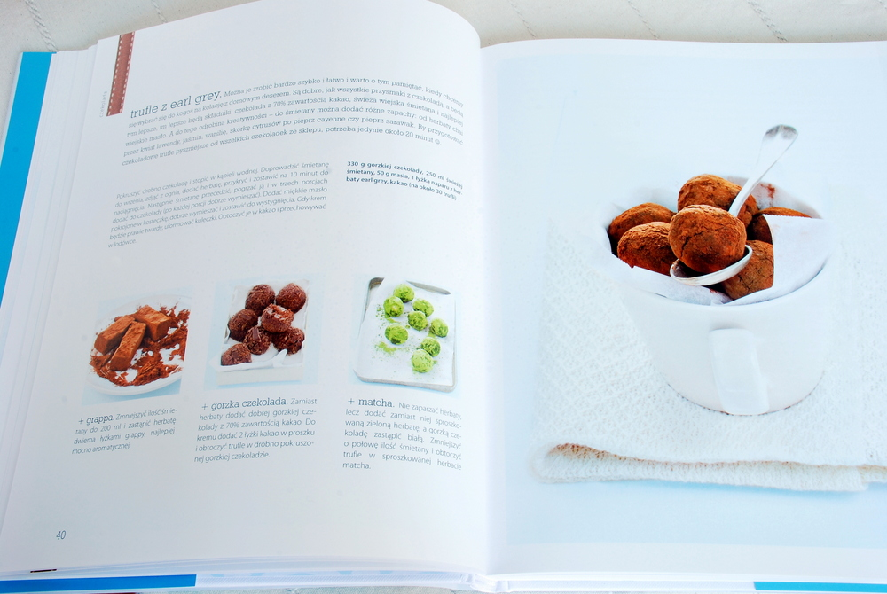 Wnętrze książki, rozdział poświęcony czekoladzie