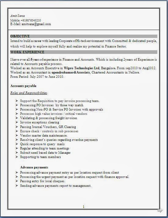 Excellent Resume Format Sample In Word Doc Chartered Resume Format For Chartered Accountant Student