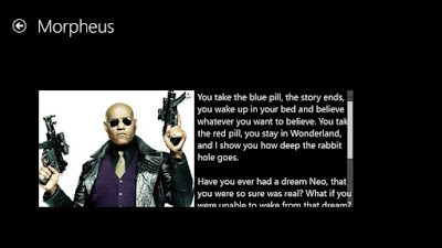 Greatest Movie Quotes OF All Time: You take the blue pill, the story ends; you wake up in your bed and believe whatever you want to believe.