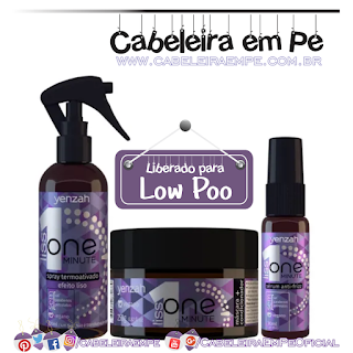 Máscara e Condicionador, Spray Termoativado e Sérum One Minute Liss (Low Poo)