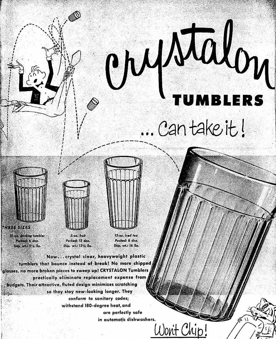 plastic Crystalon Tumblers for restaurants