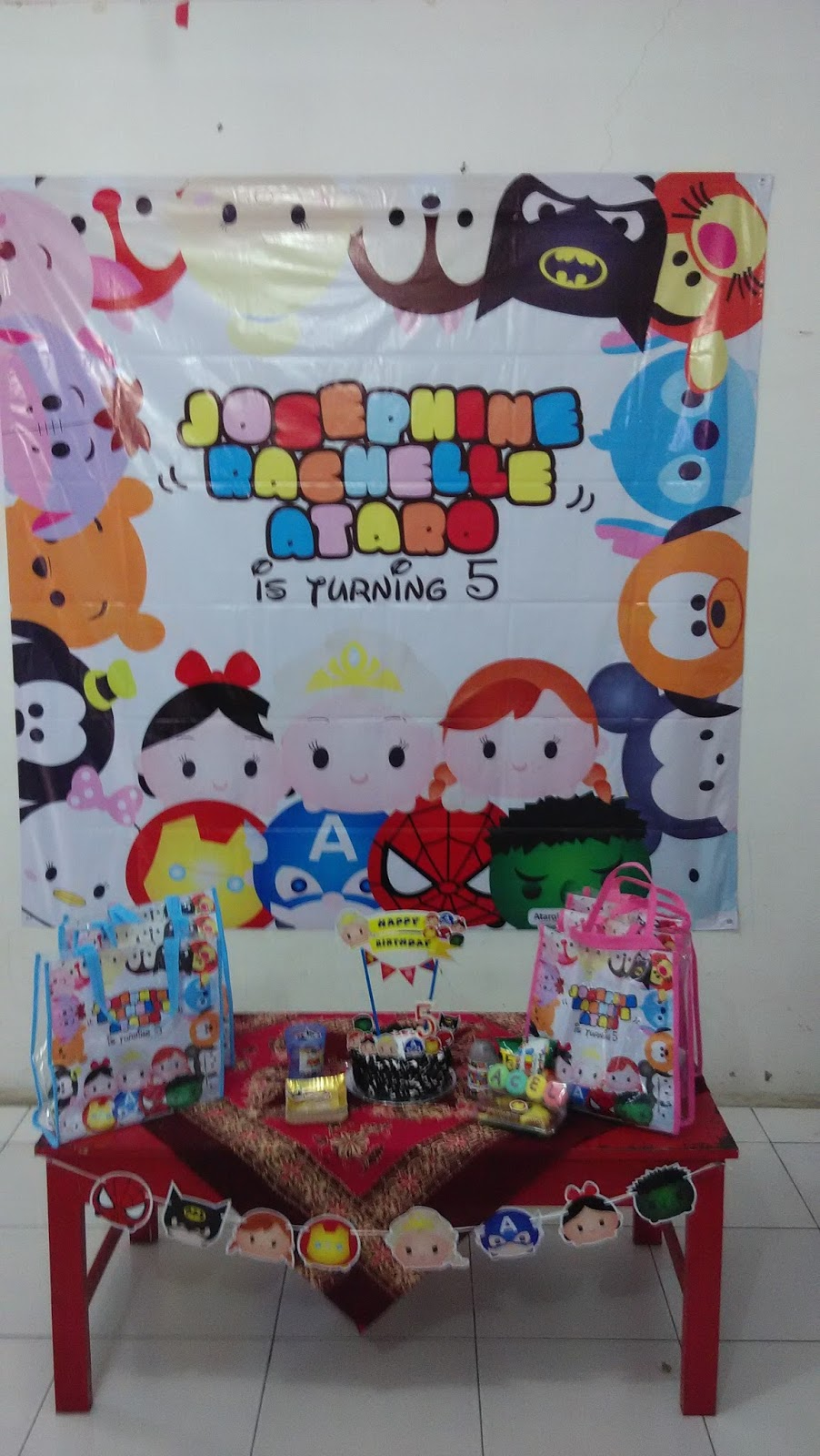Ataro Designs Undangan Stiker Label Ulang Tahun Anak Tema