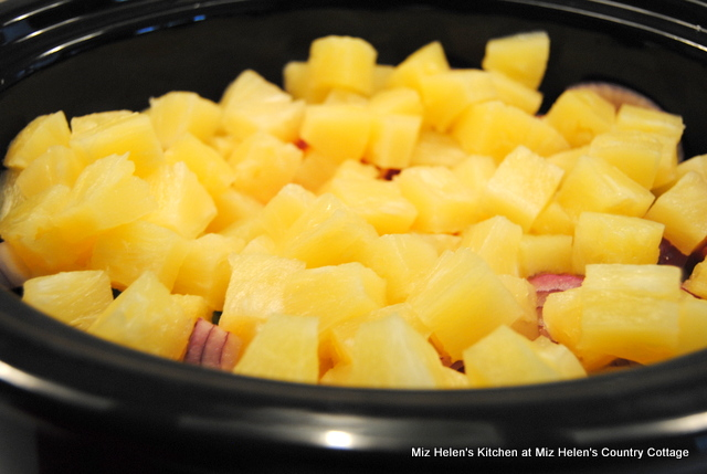 Slow Cooker BBQ Pineapple Sausage at Miz Helen's Country Cottage