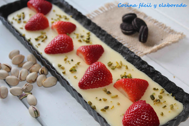 Tarta oreo fresa chocolate blanco