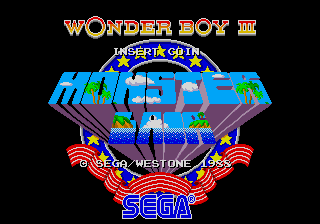 Captura de pantalla del arcade Wonder Boy III: Monster Lair, Westone, 1988