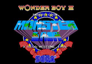 Captura de pantalla del arcade Wonder Boy III: Monster Lair, Westone, 1988