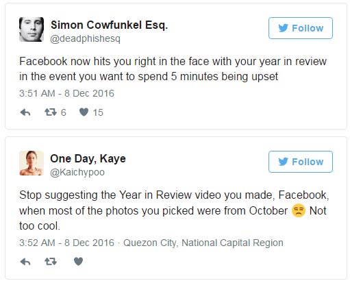 Facebook Year in Review 2016
