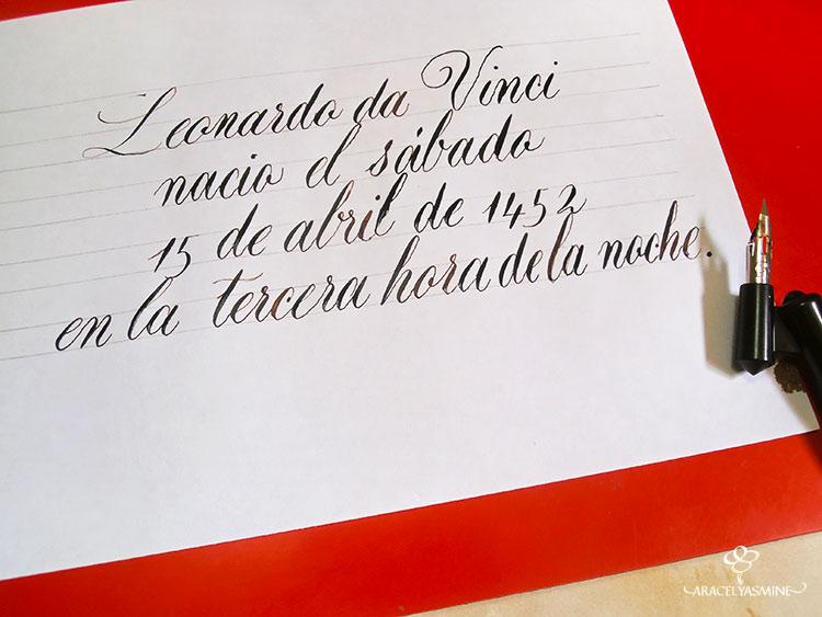 caligrafia copperplate numeros escribir plumilla