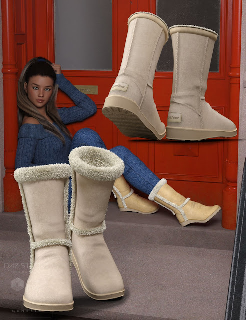 Comfeez Boots for Genesis 3 Female