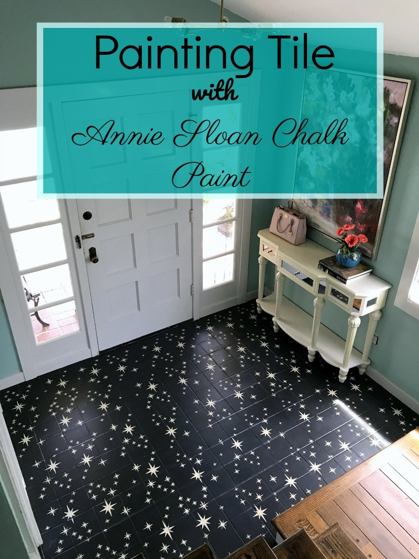 How to Paint and Stencil Tile with Chalk Paint | Barnaclebutt