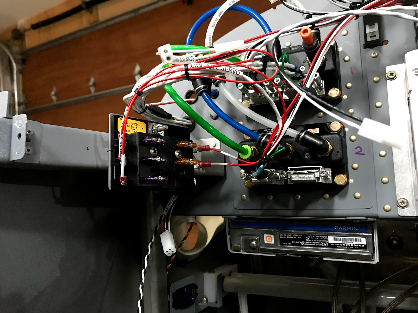 hight resolution of all avionics wiring in place