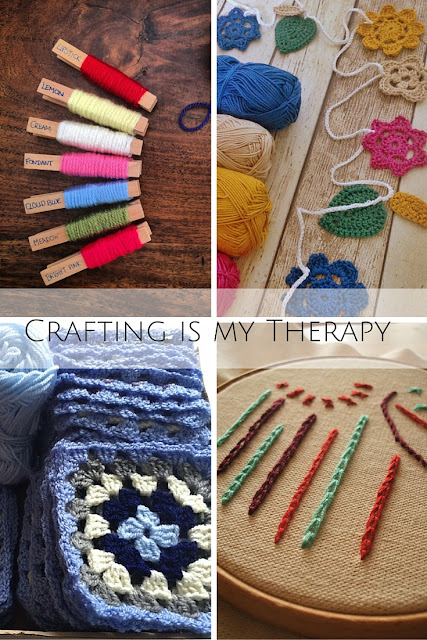 May's Crafting is my Therapy linky image featuring selection of crafts