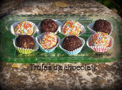 ~~Trufas de chocolate ~~
