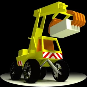 Operate 'The Little Crane that could'  on your Android and iOS devices with umpteen skills to repair bridges, move cargo etc.
