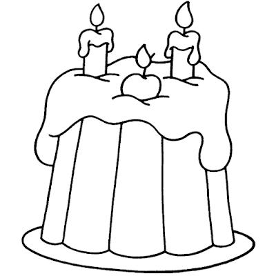 Gambar Mewarnai Kue Ulang Tahun - 19