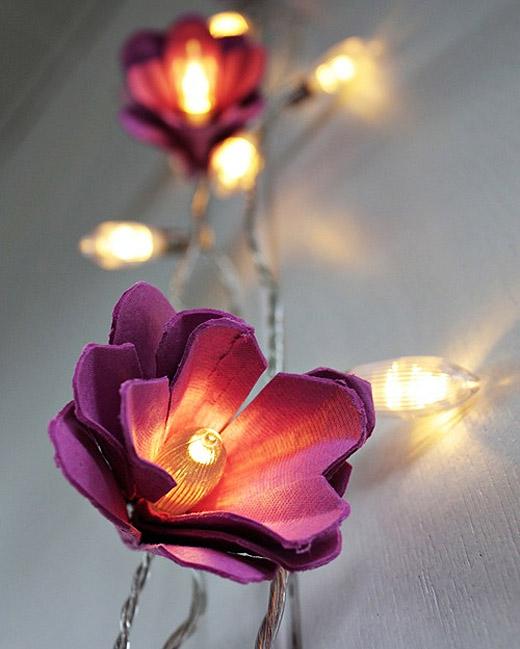 ideias para decorar 2013 Design Floral Modelos de lâmpadas