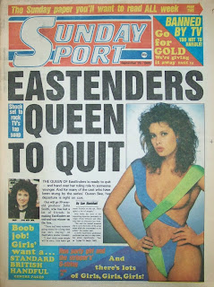 Sunday Sport front page 28 September 1986